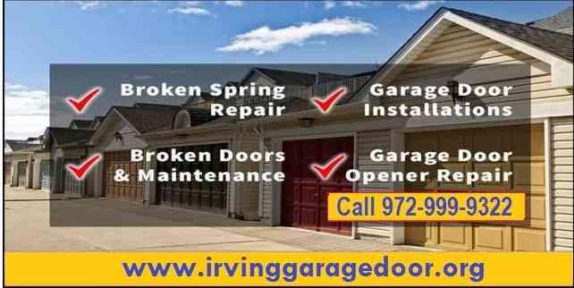 24 hours - Garage Door Repair in Irving , Dallas- Call Now $26.95