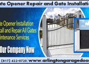 Gate opener repair and installation starting $26.95 | arlington, dallas