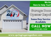 Garage door opener repair starting $26.95 | spring, houston
