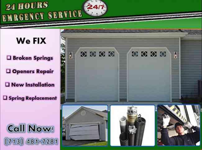 Residential Garage Door Spring Repair Missouri City, TX