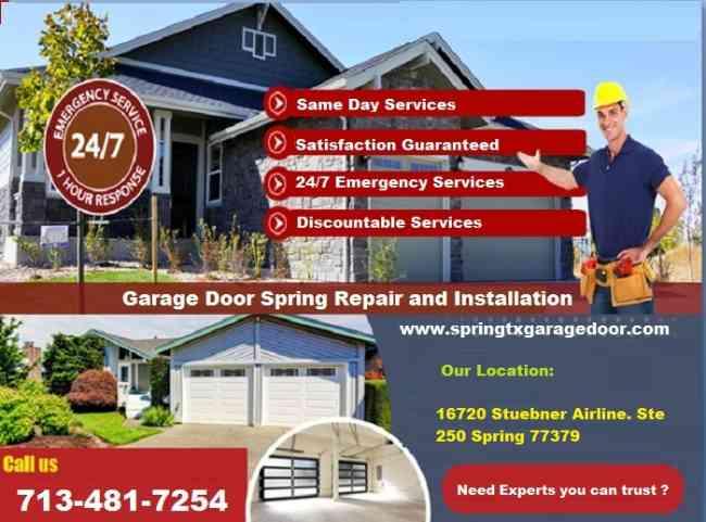 Getting the Best Discount on Garage Door Repair Spring, TX   Starting $26.95