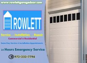 Quick and reliable garage door repair and installation service 75087