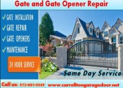 Gates and gate openers installation & repair service carrollton, tx