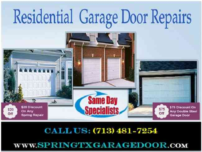 Affordable Garage Door Repair in Spring, TX | only on start $26.95