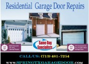 Affordable garage door repair in spring, tx   only on start $26.95