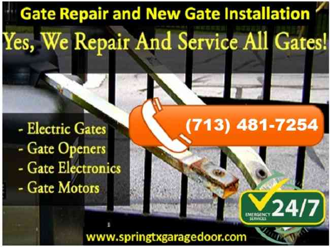 Gate Repair and New Gate Installation in Spring, TX   Call us (713) 481-7254