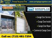 Call us (713) 481-7254 for emergency garage door repair in spring, tx