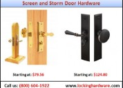 Screen and storm door hardware | door lockset | call us (800) 604-1922