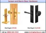 Screen and storm door hardware | door lockset | call us (800) 604-1922