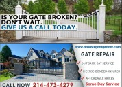 Fastest automatic gate repair and installation dallas, tx | same day service