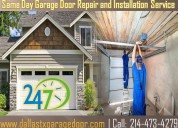 Residential garage door repair service in dallas, tx | starting only $25.95