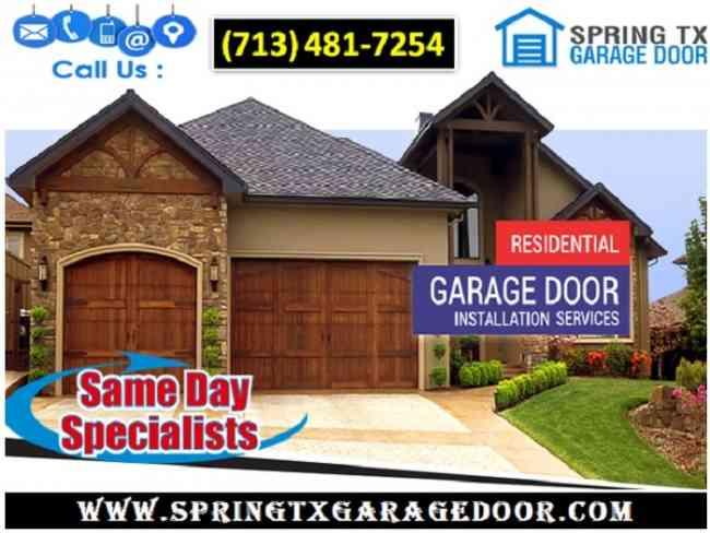 Commercial Garage Door Spring Repair company in Spring, TX   $25.95