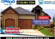 Commercial garage door spring repair company in spring, tx | $25.95