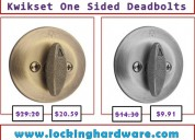Discounted price on kwikset one sided deadbolts | call us (800) 604-1922