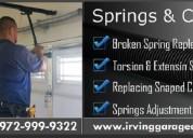 Expert garage door spring replacement and repair- irving, tx