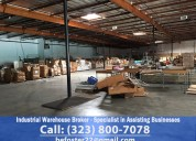 Industrial warehouse broker ★ specialist in assisting businesses