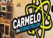 Carmelo runs science parties for kids in brooklyn