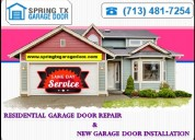 Providing top quality residential garage door service spring