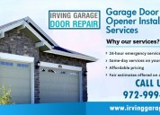 Fast garage door repair 75039, texas
