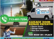 High quality residential garage door service provider company in spring