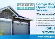 Call us (972) 999-9322 for get professional garage door repair service in irving