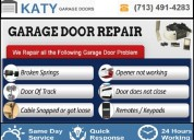 Professional garage door repair company in katy
