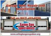 Emergency response on garage door spring repair in