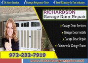 Broken garage door repair expert in richardson, tx