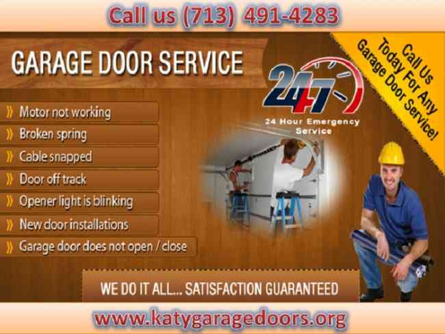 Broken Garage Door Repair Expert Company in Katy