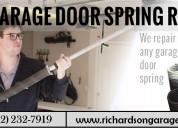 Broken garage door spring repair and replacement |