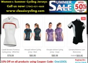 50 % discount on women's cycling jerseys
