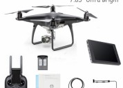 Dji phantom 4 pro obsidian black drone with crysta