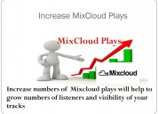 Buy real mixcloud plays