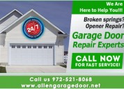 Top garage door repair services $25.95 75071 allen