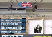 Emergency garage door repair $25.95 allen, tx