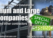 We are experts in metal structures
