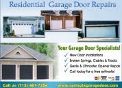 Garage door repair service $25.95 spring, houston