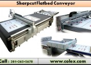 Colex sharpcut flatbed conveyer cutter nj 07407