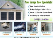 24 hours garage door spring installation allen, tx
