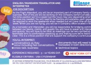 English/mandarin translator and interpreter