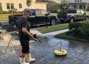 Pool deck cleaning - screen enclosure cleaning in