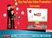Buy youtube video promotion services
