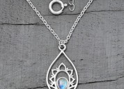 Moonstone Necklace - Drops Of Infinity