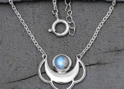 Moonstone Necklace - Moon And Star