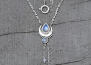 Sterling silver pendant necklace earrings ring jew