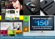 $150 website design package app logo graphic