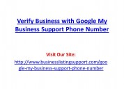Verify business with google my business support