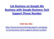 List business on google my business with google