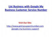 List business with google my business customer