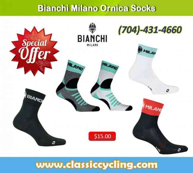 Bianchi Milano Men's Cycling Socks | Winter 2018